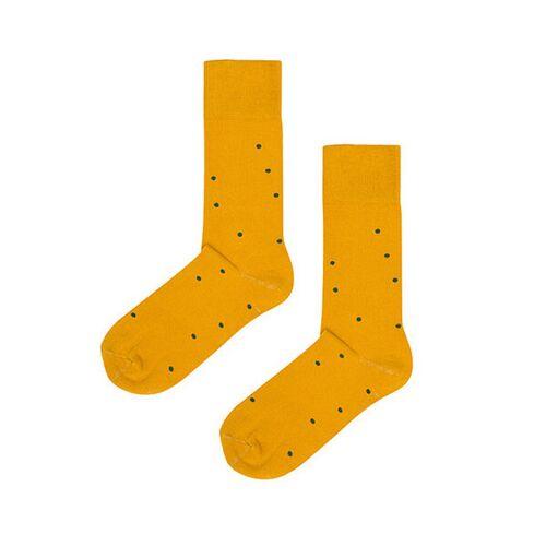 Kabak Socken Aus Bio-baumwolle / Organic Cotton Dots gelb 36-41