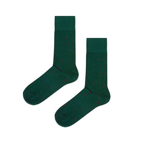 Kabak Socken Aus Bio-baumwolle / Organic Cotton Dots grün 42-46