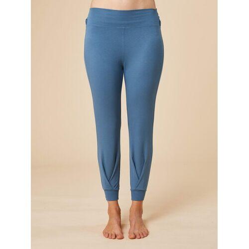 """chakrana Drapierte Yoga-hose """"Tara"""" graublau XL"""