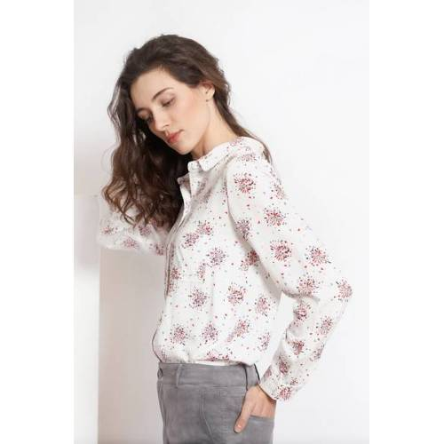 ME&MAY Bluse Aimé Mit Besonderen Print weiss L
