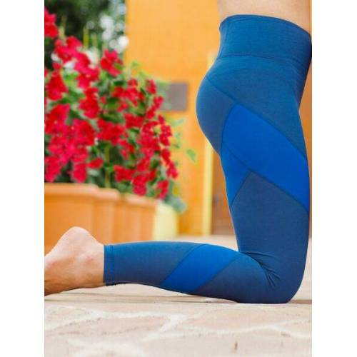 nice to meet me Energy Legging Aus Biobaumwolle. Color Block Edition color block blueblue S