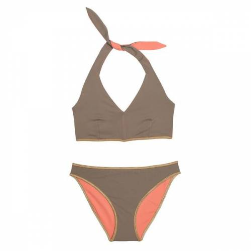 "MYMARINI Bikini Sosue Bikini Pants Shine orange (""sand/peach"") S"