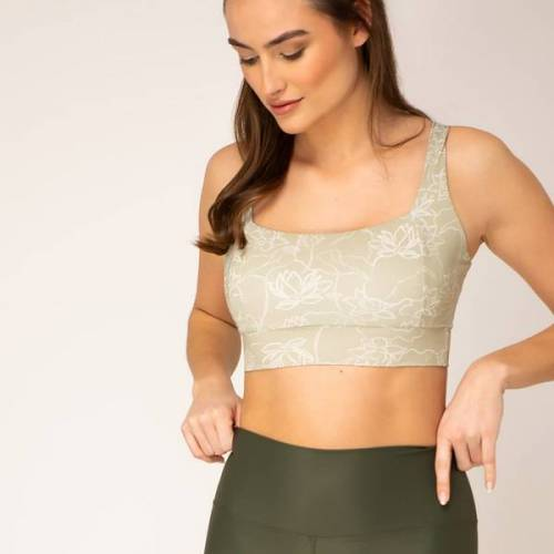 woodlike Crop Top - Lotus lotus (grün) M