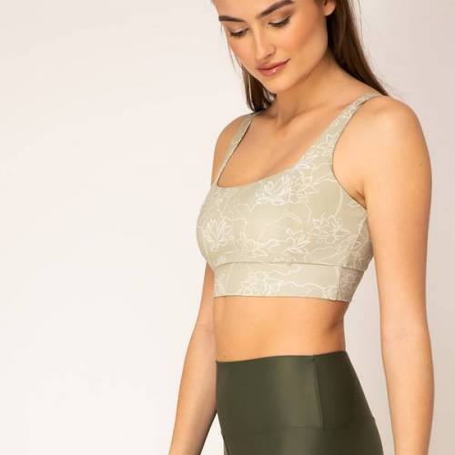 woodlike Crop Top - Lotus lotus (grün) L