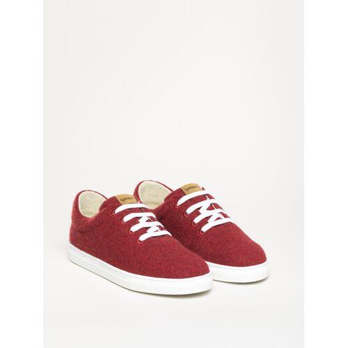 Gottstein Österreich-Marke Magicfelt Magicfelt Moderner Wool Walker Sneaker Neu Aus 100 % Schurwolle rot 36