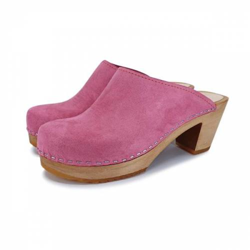 me&myClogs Liv - Schwedische Holz Clogs Von Me&Myclogs - High Mid Heel pink 39