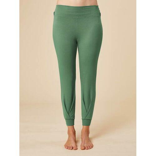 """chakrana Drapierte Yoga-hose """"Tara"""" grün L"""