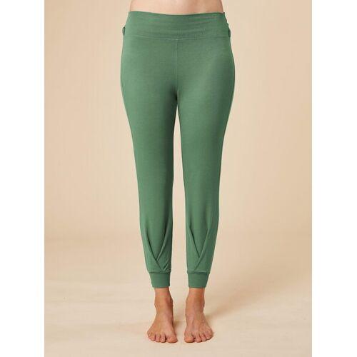 """chakrana Drapierte Yoga-hose """"Tara"""" grün M"""