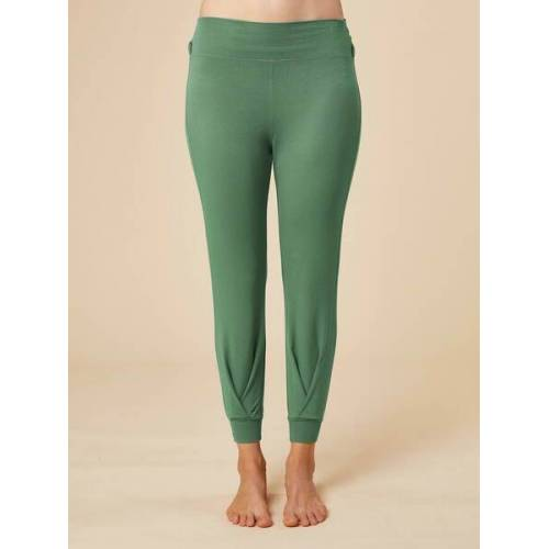 """chakrana Drapierte Yoga-hose """"Tara"""" grün S"""