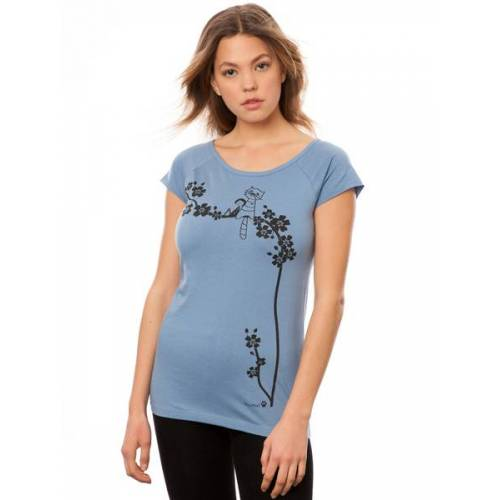 Fellherz Damen T-shirt Catlove blau M