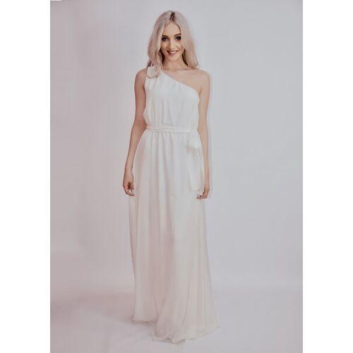 Ana Bogmair Langes Abendkleid Aus Seide In Weiß weiß L