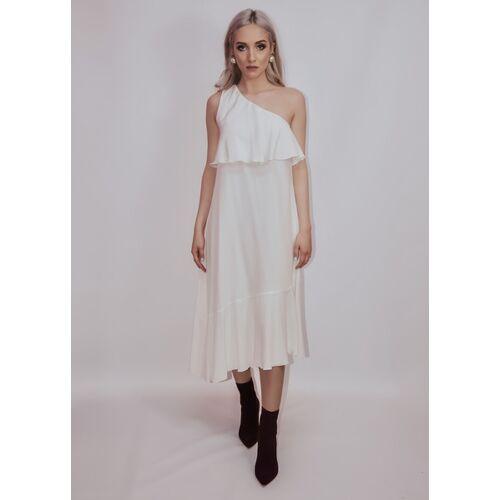 Ana Bogmair Langes Seidenkleid In Weiß weiß L