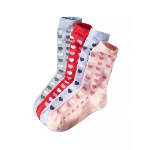 Deerberg 4er Pack Socken Mit Herzchenmuster bunt 35/38