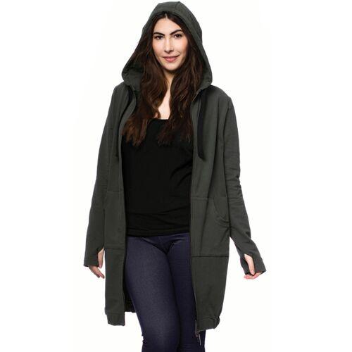 Milchshake Jasper Milchshake® Woman Long Sweatjacke Aus Bio-baumwolle oliv XS