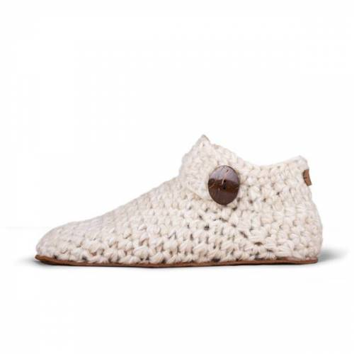 Kingdom Of Wow - Damen Hausschuhe Ankle-boots weiss 36-37