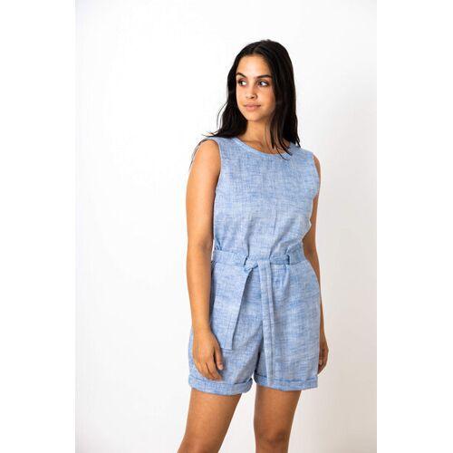 Jyoti - Fair Works Damen Jumpsuit Dhon Hellblau hellblau (blau) XL