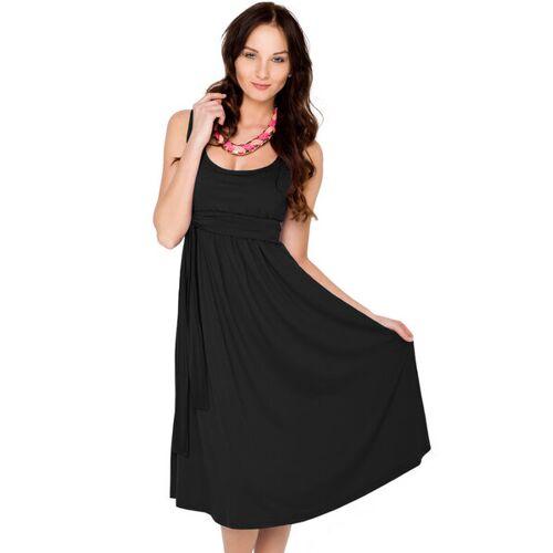 Milchshake 104 Elegantes Basic Umstands- & Stillkleid Aus Tencel Modal schwarz XL