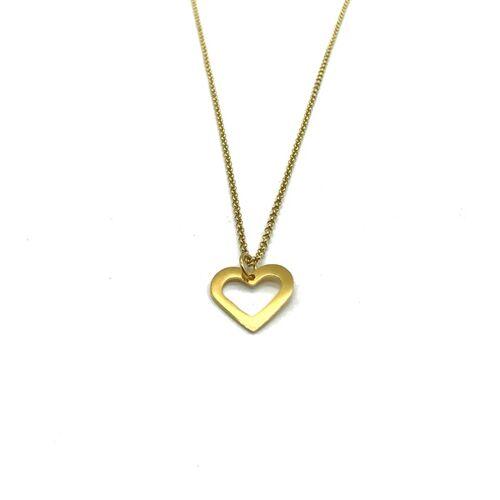MUNICH JEWELS Halskette Herz Vergoldet vergoldet