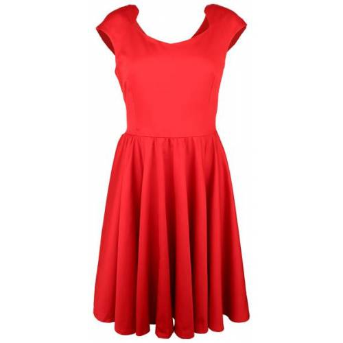 anzüglich organic & fair Elegantes Bio-satin-kleid rot L