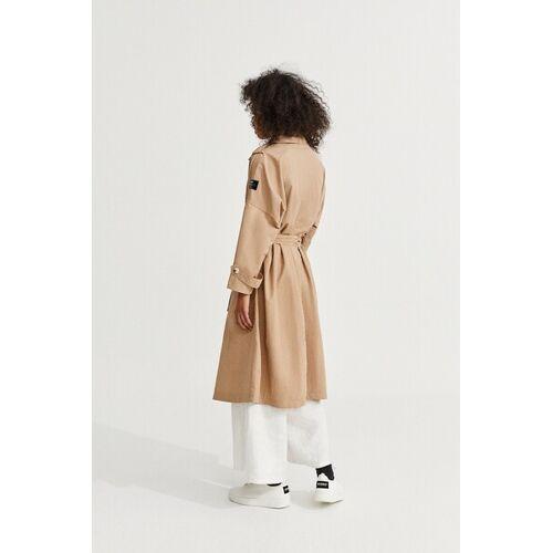 ECOALF Oversize Trenchcoat Damen Mos, Farbe Topo  S