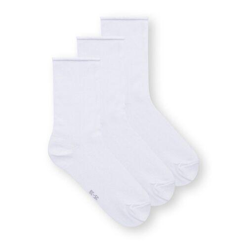 THOKKTHOKK Mid-rise Relax Socken 3er Pack weiss s(35-38)