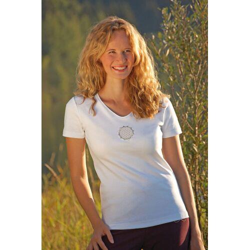 The Spirit of OM T-shirt Blume Des Lebens Weiß weiß XS