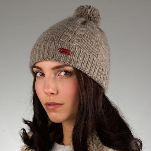 mongs® Mütze Uyanga Aus Yakwolle Grau grau