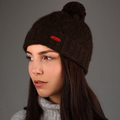 mongs® Mütze Tuul Aus Yakwolle Braun braun