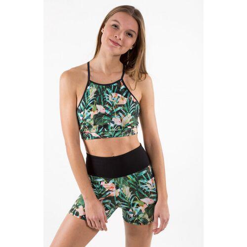 "Flying Love Birds ""Jungle"" Hot Yoga Shorts grün S"