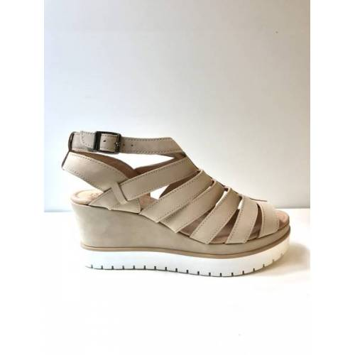 Werner Schuhe Plateausandale Nubuk Sand 520 sand 38