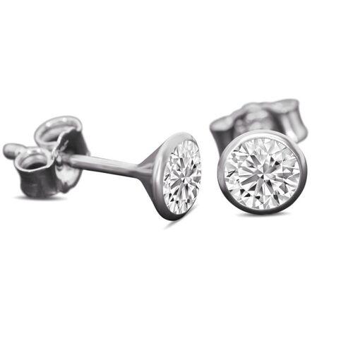 JuliaPilot Schmuck-ohrstecker Mit Swarovski Kristall - Silber-schmuck-ohrringe silber
