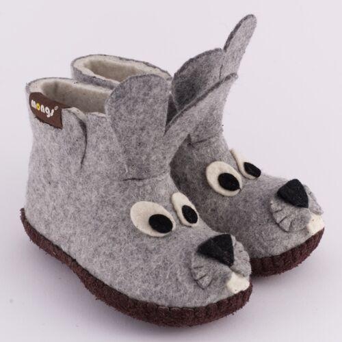 mongs® Hausschuhe - Baby Bunny Grau grau 28