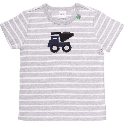 "green cotton ""Green Cotton"" Streifen- T-shirt Bagger grau/weiß 122"