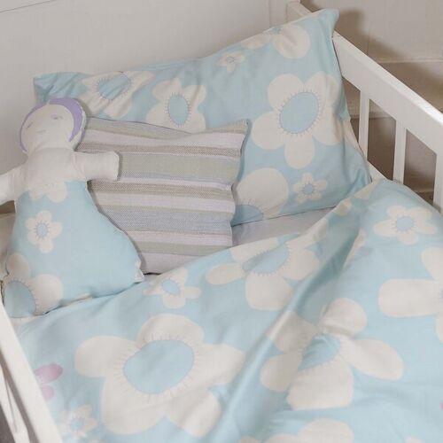 ingegerd Kinderbettwäsche Blume Blau Für Wiege Und Kleinkindbett blau kleinkindbett 100x140cm