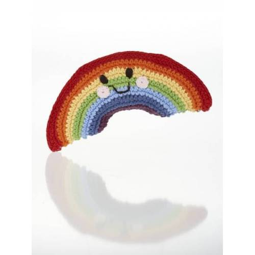 Pebble Fröhliche Regenbogen Rassel regenbogen