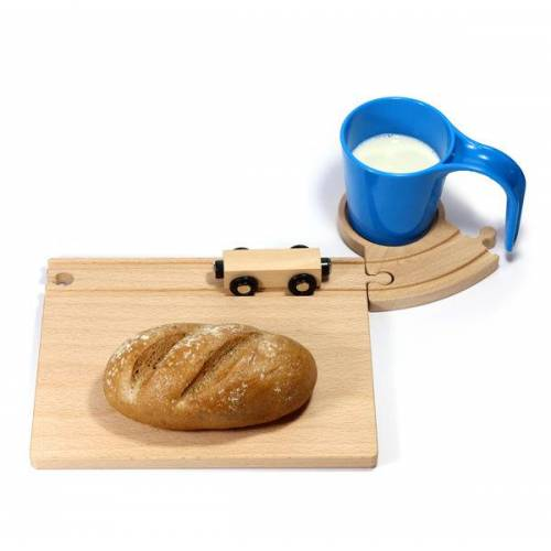 Neue Freunde Eisenbahn Frühstücksset blau