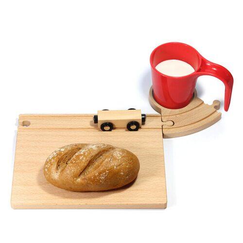 Neue Freunde Eisenbahn Frühstücksset rot