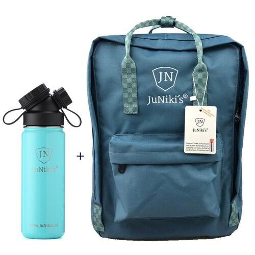JN JuNiki's Promotion-set: Juniki´s Rucksack + Juniki´s Trinkflasche 550ml trinkflasche türkis