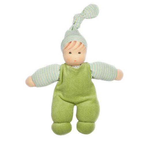Nanchen Puppe Wuschel Bio-baumwolle/bio-wolle grün