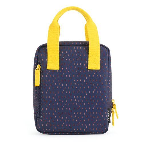EKOBO Isolierte Lunchbag Mit Henkel blau