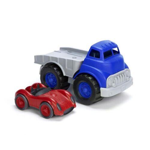 Green Toys Autotransporter Und Rennwagen -Set - Truck Mit Racer