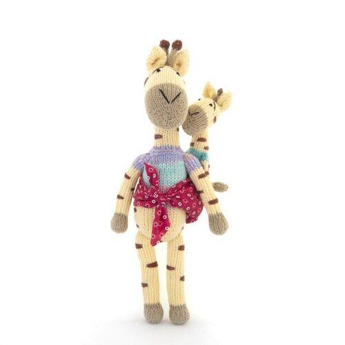Gogo Olive Giraffe Kuscheltier - Shamwari Mama & Baby - Handgestrickte Stofftiere By Gogo Olive olive
