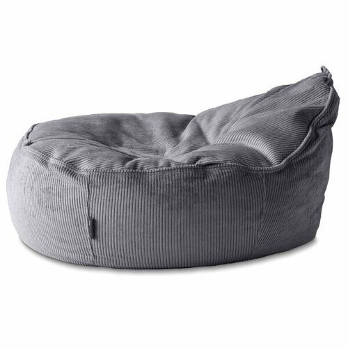 Baby EcoEgg® Baby Sitzsack Mit Bio Dinkelspreu - Baby Ecoegg® In Breitcord eisgrau