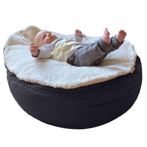 Baby EcoEgg® Bio Plüsch-auflage Mit Breitem Puckband-secure Für Babysitzsack