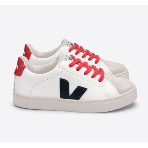 Veja Kinder Sneaker - Esplar Lace Leather weiß (white nautico pekin laces) 33
