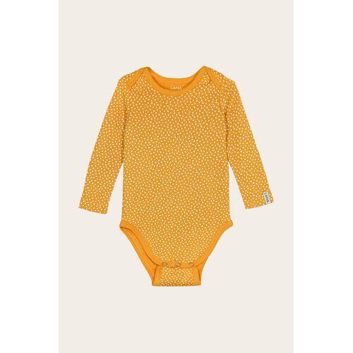 Lana naturalwear Bio Baby Body Langarm Ohne Elasthan - Paula paula sonnengelb 74/80