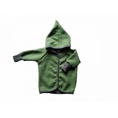 Ulalü Baby Wollwalk Jacke Mit Zipfelkapuze olive 92