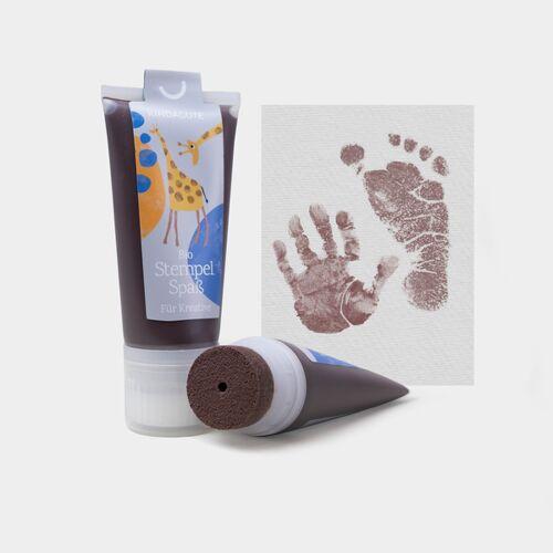 KINDACUTE Bio Stempelspaß Für Babys & Kids espresso