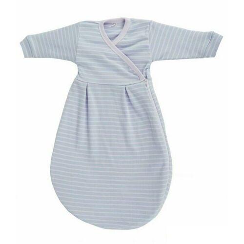 Popolini Baby Felinchen Schlafsack Blau Weiß 62/68 Kba Baumwolle blau 62/68