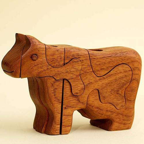 Ecowoods 3d Holzpuzzle - Kuh
